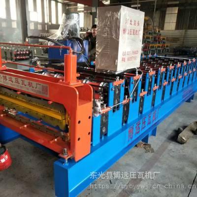 博远压瓦机现货供应 单板840彩钢压瓦机 彩钢瓦设备 全自动彩钢瓦机