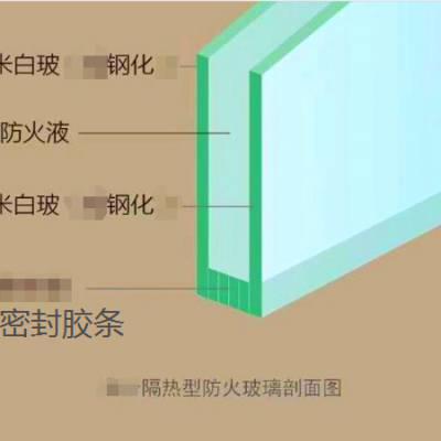 订制3小时纳米水晶硅防火玻璃***<合创> 隔热防火玻璃厂家