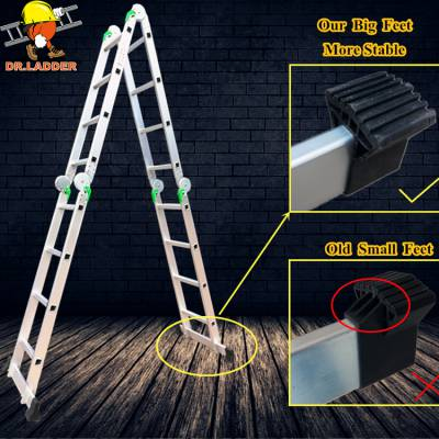 梯博士源头工厂铝焊工程梯人字防滑家用梯铝合金梯子