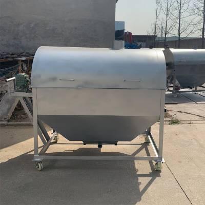 大型黃豆翻炒機 炒芝麻炒黃豆機 燃氣加熱炒貨機