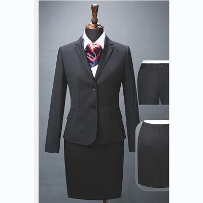 贵州管理服订做贵阳西装定制***商务西服定制YHY7005黑色70%羊毛面料西装