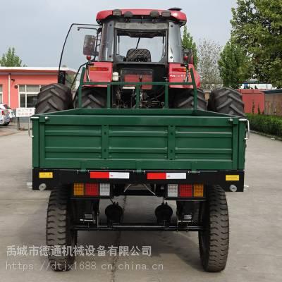3吨单轴农用液压自卸拖斗 高栏拖车