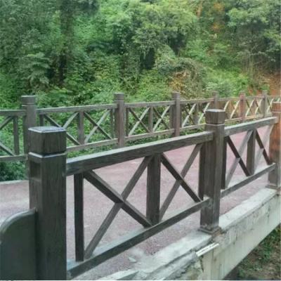桐城仿木栏杆 仿木护栏现货直销 河堤景区混凝土围栏