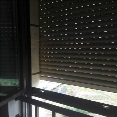 户外卷帘窗 户外百叶窗 建筑外遮阳卷帘窗 电动铝合金卷帘窗