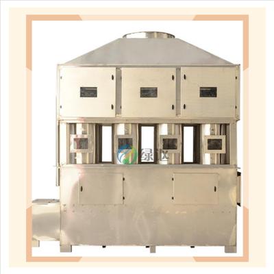 供应不锈钢防爆湿式除尘设备_绿森环保旋风式气动喷淋塔