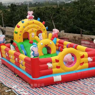 家用气模玩具充气蹦床,公园景区游乐项目,30平方充气城堡