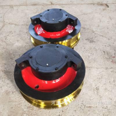 钢轨地平车车轮组 φ350*100主动车轮组 铸钢行车轮