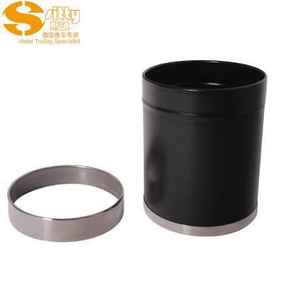 专业生产SITTY斯迪99.0240CB-1黑色不锈钢活动圈圆形客房桶/垃圾桶