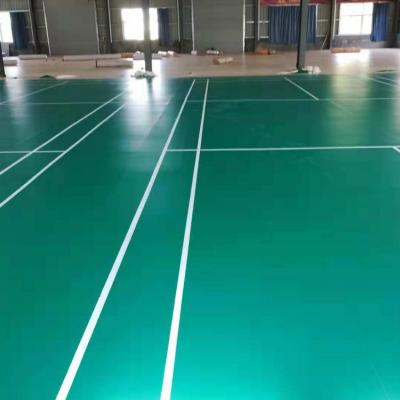 工厂直供PVC塑胶地板/欧宝瑞羽毛球地板/沙地纹pvc运动地胶