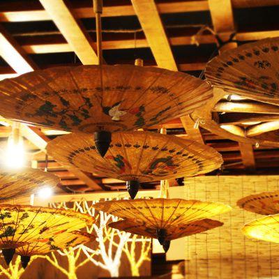 东南亚特色工艺品伞定制 创意怀旧手工彩绘婚礼用伞纸伞雨伞 泰国油纸伞直销