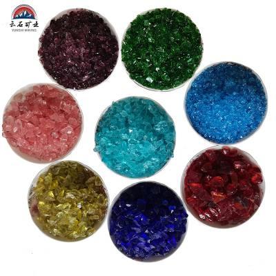 河北玻璃砂厂家 彩色透明玻璃块 建材工艺品用玻璃珠 喷砂玻璃砂