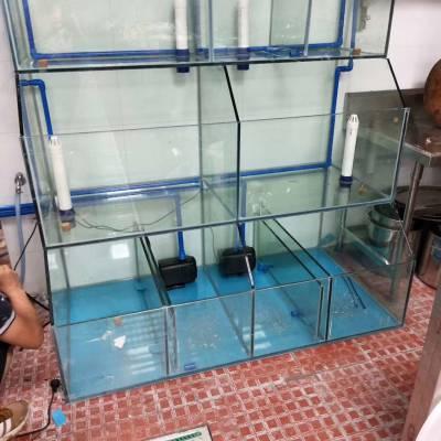 广州黄埔玻璃海鲜鱼池,鱼池过滤活性炭,广州大排档海鲜池