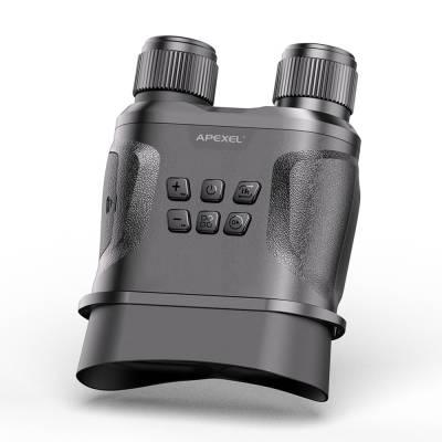 APEXEL新款NV001微光全彩红外夜视仪拍摄高清数码双筒变焦望远镜