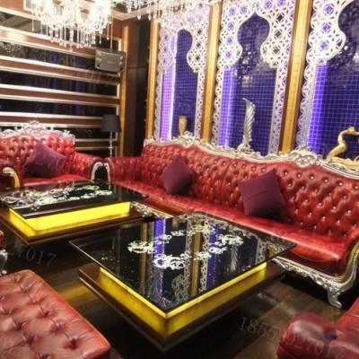 山东滨州KTV沙发 欧式沙发皮革沙发酒吧卡座