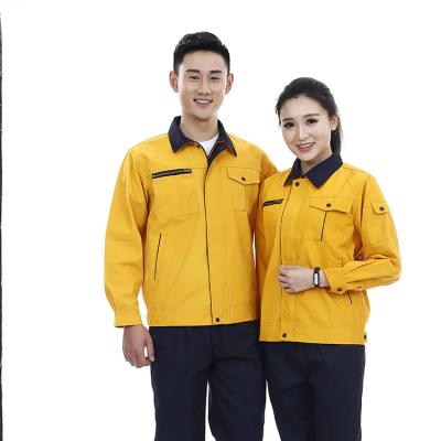 定制贵州工程服 耐磨耐穿工作服订做 JINYT-8801300 黄色涤棉工程服单层春秋装
