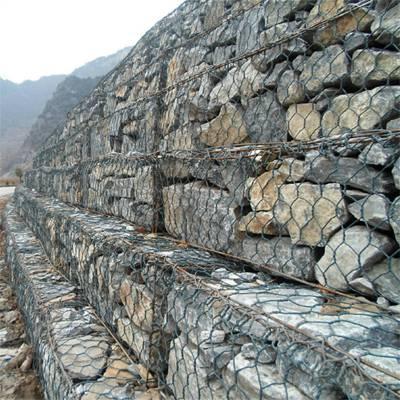 河道石笼网 护坡石笼网 堤坡防护石笼网