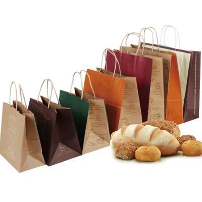 定制牛皮纸袋 手提打包袋 外卖打包食品袋 服装店打包装袋 礼品袋子 定做印logo