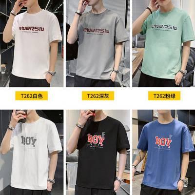 西藏阿里男装t恤短袖新款潮牌1元2元3元便宜出口几元男装短袖体恤衫