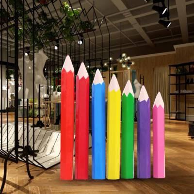 玻璃钢铅笔雕塑 创意造型雕塑 广州益丰玻璃钢