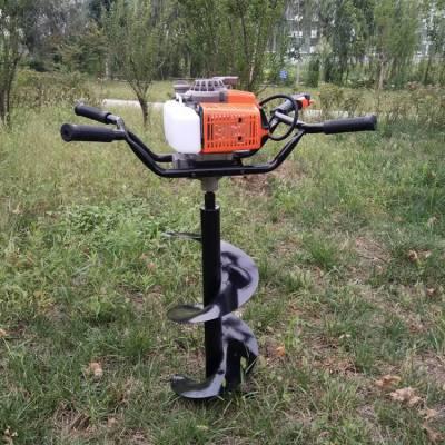 农用手扶独轮打坑机 汽油二冲程植树造林打坑机 道路建设植树挖坑机