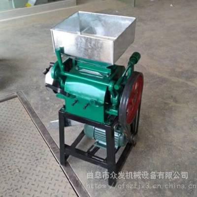 麦子家用挤扁机 小型电动麦扁机 对辊式伐扁机