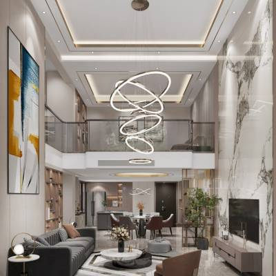 香港置地嘉景湾别墅设计,重庆挑高别墅装修效果图,礼嘉天古装饰地址